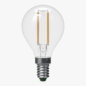 led filament bulb lights 3d model