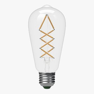 3d model led filament bulb lights