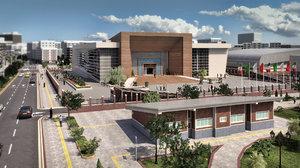 3D conference center details