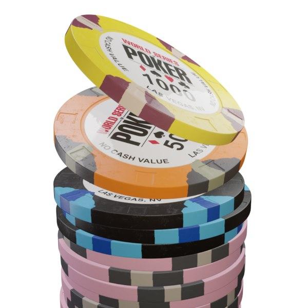 wsop poker chip 3D model