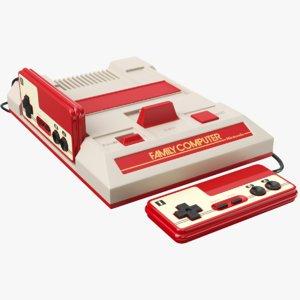 3D nintendo console joystick model