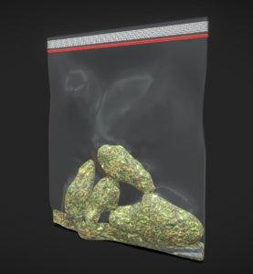 weed bag 3D