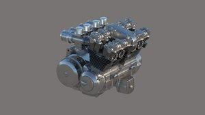 cylinder motorcycle engine model