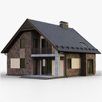 gameready house 2 type model