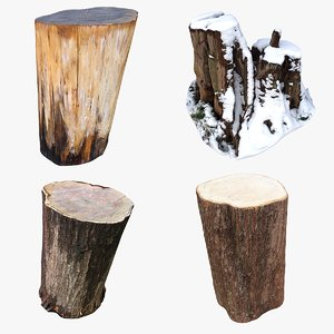 tree stump 3D