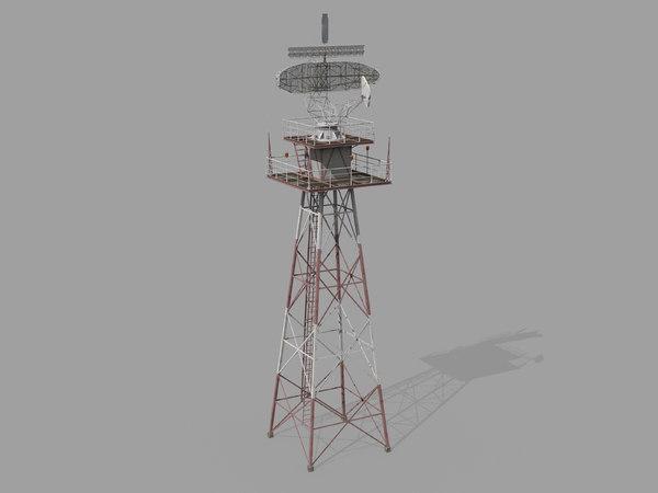 airport radar tower model