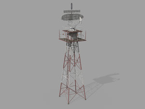 airport radar tower model
