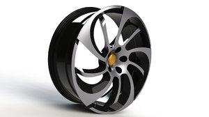 3D model vehicle rim 26 inch