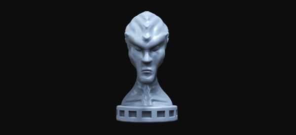 alien statue sculpting 3D model
