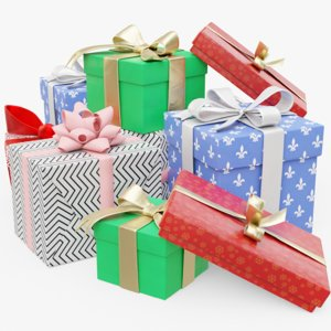 presents package 3D model