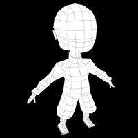 3D kid base mesh