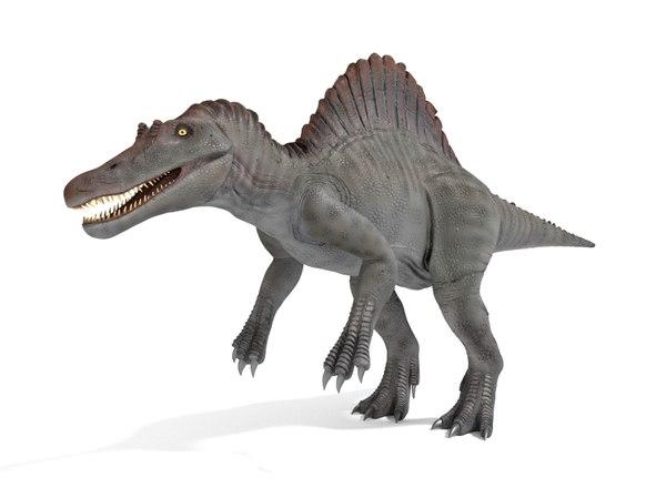 3D spinosaurus blender v-multi model
