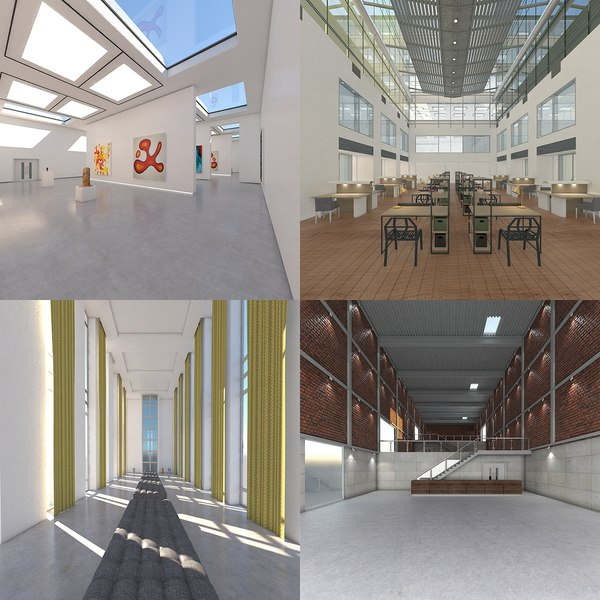interior warehouse space 3D model
