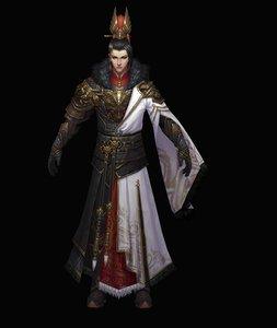 oriental male role 3D model