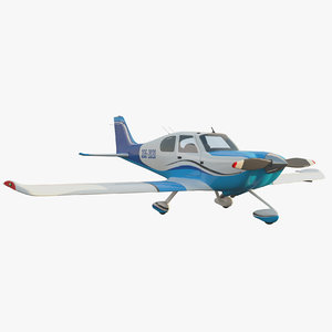generic light aircraft airplane 3D model