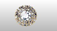 Halo round cut diamond pendant jewelry