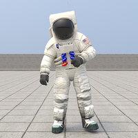 spacesuit astronaut spaceman 3D