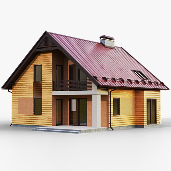 3D gameready house 2 type model