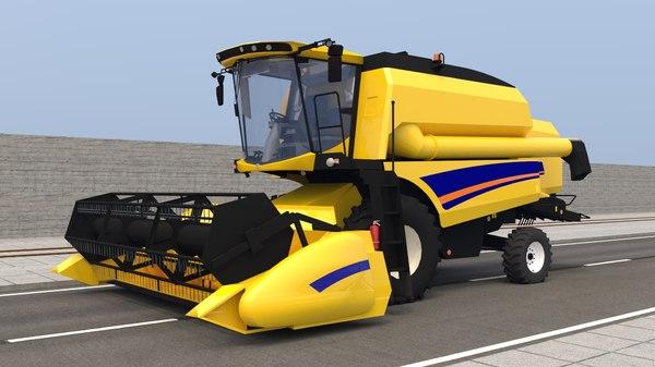 3D new holland combine model