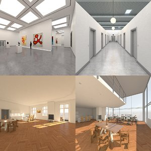 interior space architecture 3D model