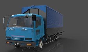 isuzu truck cab f-series 3D model