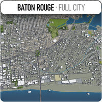 baton rouge surrounding - 3D model