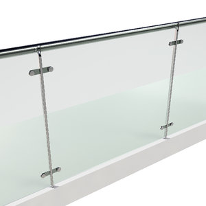 3D stainless steel glass railing