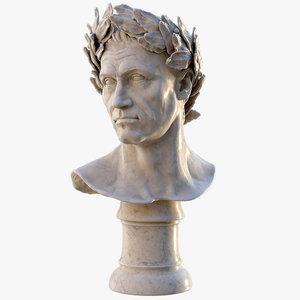 caesar bust statue 3D model