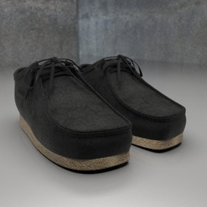 clarks wallabees 3D