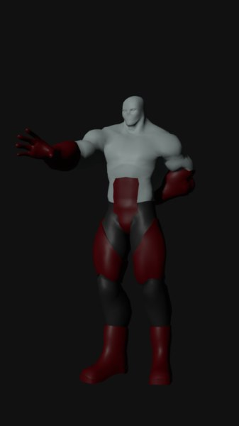 3D character male model