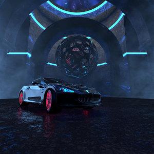 3D concepts sports car occult model