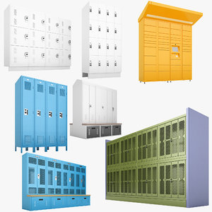 storage lockers 01 3D