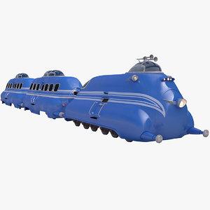 3D train railroad