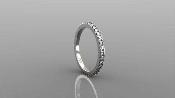 stl diamonds ring 3D model