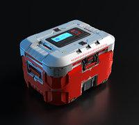 3D Concept sci fi box