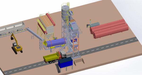 3D model asphalt plant 160 tons