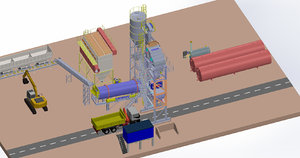 3D model asphalt plant 160 tons