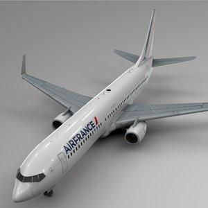 3D air france boeing 737-800 model