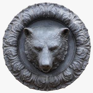 bear head fountain 3D