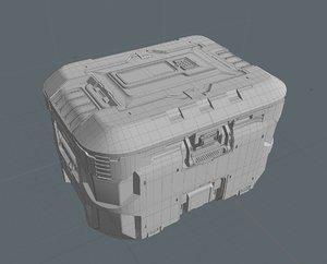 3D box sci fi
