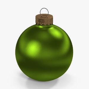 christmas ball green 3D