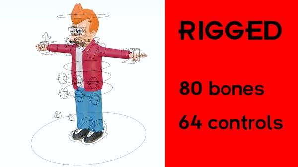 futurama fry rig 3D