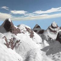 cartoon snow mountain