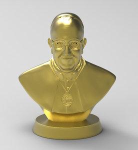3D pope francis model