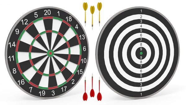 3D dartboard dart board