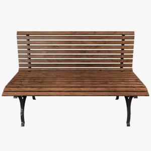 3D bench scenes model