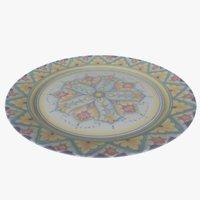 plate dish bowl 3D model