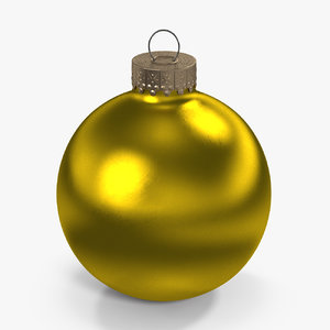 christmas ball yellow 3D model