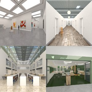 interior space architecture 3D model