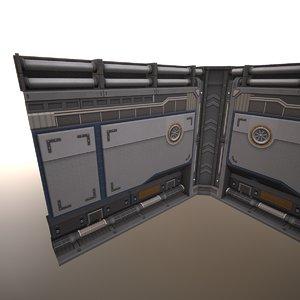 3D sci-fi wall